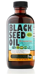 Pure Cold Pressed Black Seed Oil 4 oz glass bottle